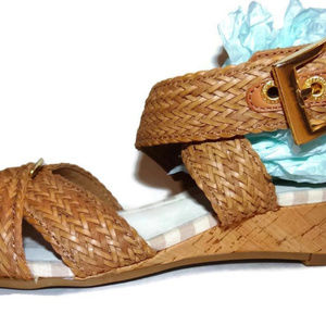 57b9e7531a Sperry Shoes | Alvina Wedge Sandal Criss Cross Ankle Strap | Poshmark